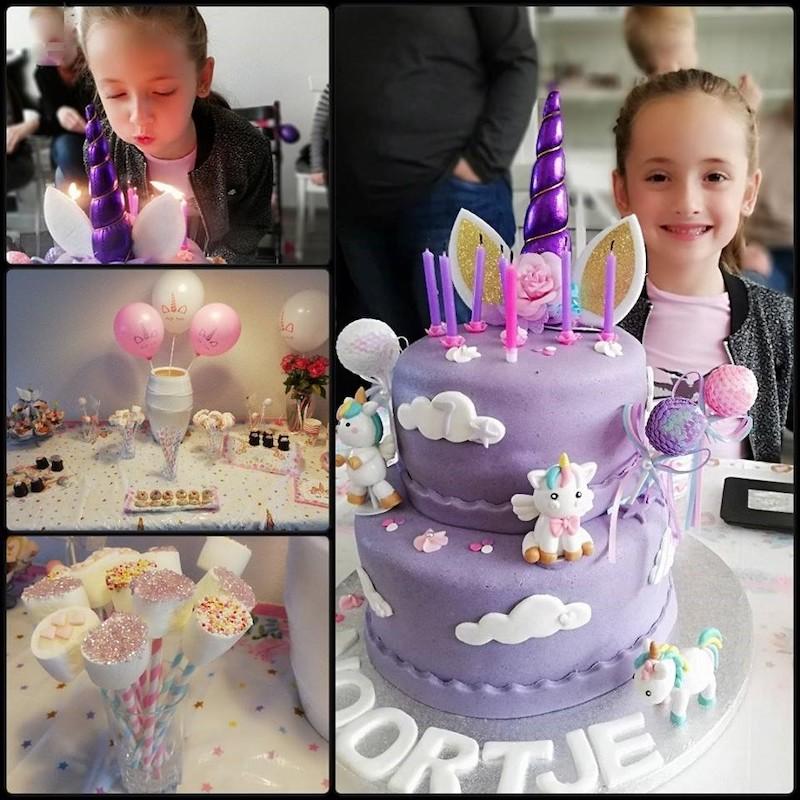 thema verjaardag unicorn, traktatie unicorn, traktatie eenhoorn, unicorn party, unicorn feest