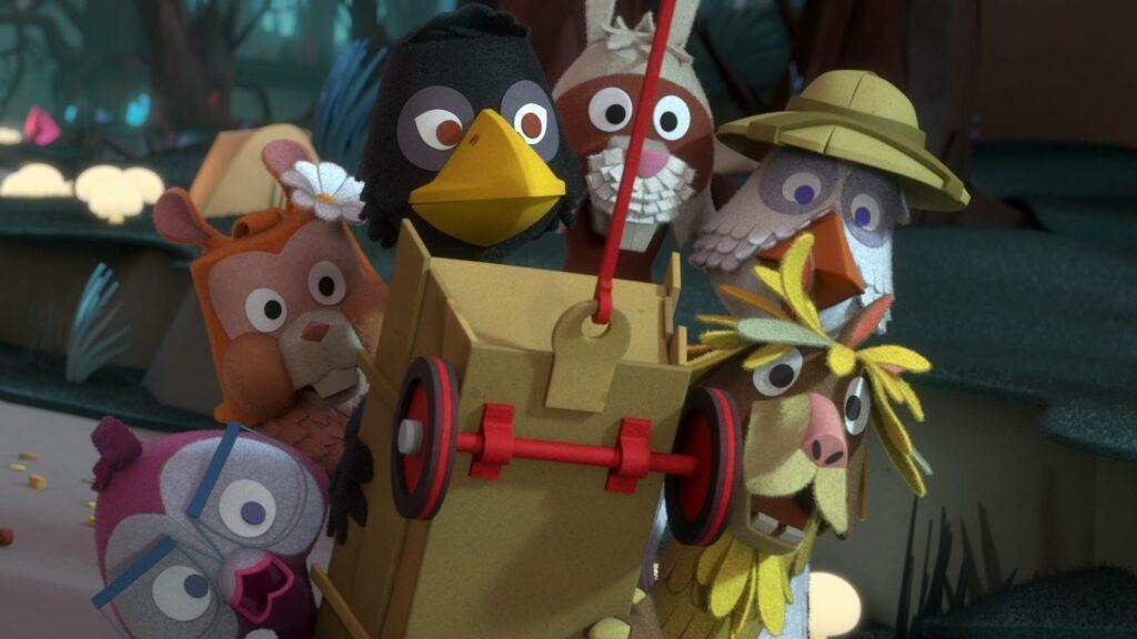 de fabeltjeskrantfilm, fabeltjeskrant de film, de grote dierenbos-spelen, meneer de uil, fabeltjeskrant,