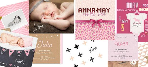 Geboortekaartjes meisjes, geboortekaartjes maken, geboortekaartjes drukken, geboortekaartje meisje, geboortekaartje ontwerpen, geboortekaartje foto