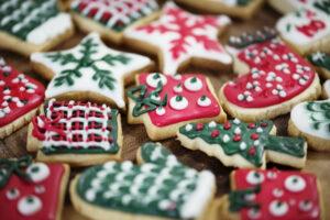 Christmas theme cookies, kerstkoekjes bakken, kerstkoekjes, uitje kerstvakantie