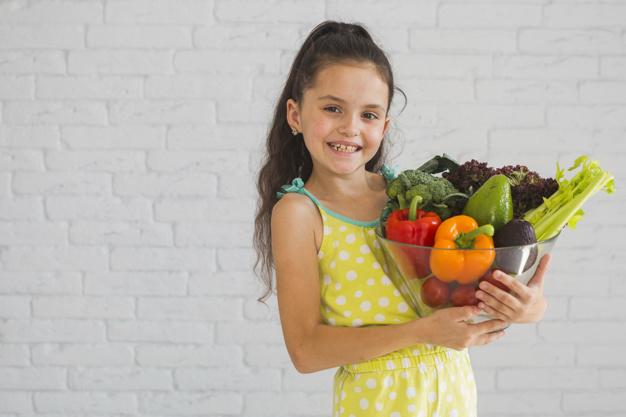 goede voornemens, meisje groente