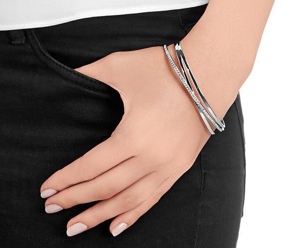 swarovski bangle armband, swarovski sieraden, zilveren armband, swarovski zilver