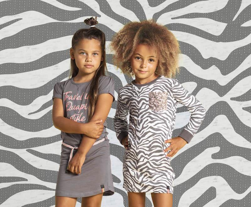 zebraprint jurk, Quapi_Girls_S19_Del1_8, meisjesmode voorjaar, meisjesmode trends voorjaar, meisjesmode trends, quapi voorjaar, quapi girls