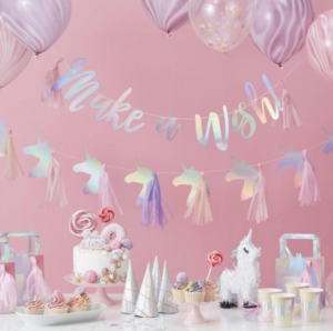 kinderfeest decoratie, kinderfeest thema unicorn, kinderfeest thema unicorn
