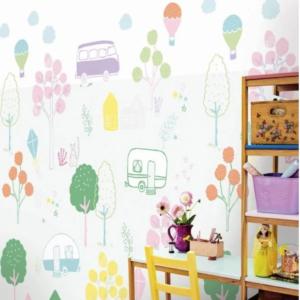 kleurrijk behang, eijffinger behang, behang kinderkamer, behang meisjeskamer