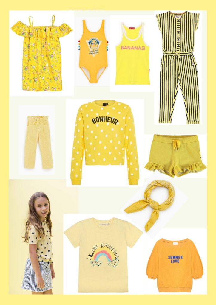 meisjesmode geel, meisjeskleding geel, meisjestrends, meisjesmode trend, zomercollectie trends, nieuwe collectie zomer, shopping collage zomer, shopping collage geel