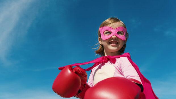 boksen voor meisjes, meisje super held