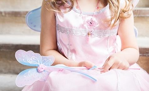 feeen toverstaf, fee jurk, verkleedjurk fee,  prinses, meisje-meisje, prinsessenjurk
