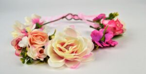rozenkrans, bloemenhaarband, bloemenband, bloemenkrans
