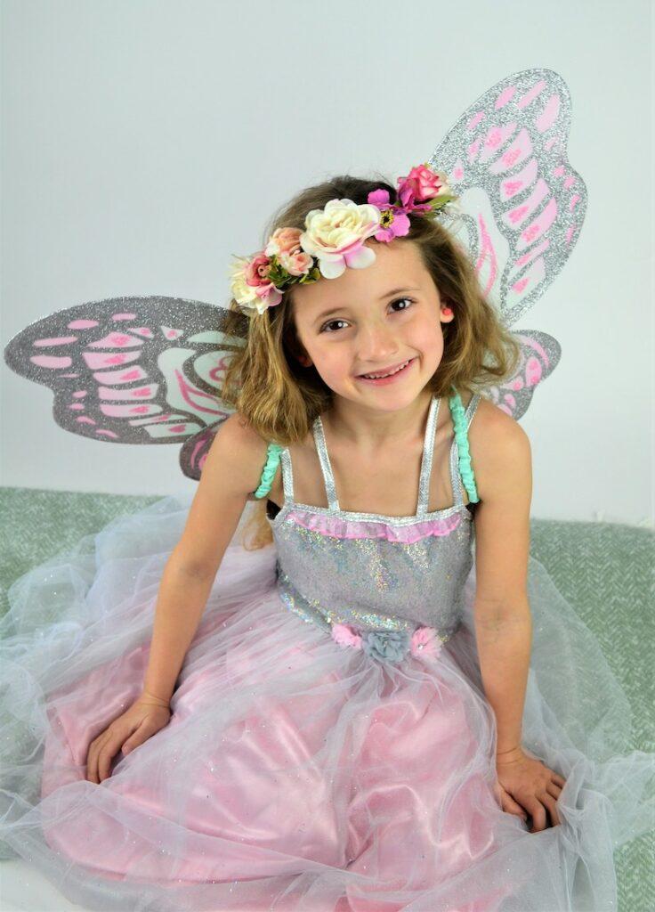 verkleedjurk prinses, prinsessenjurk, prinsessenjurk kopen, prinsessenjurk.nl, haarband bloemen