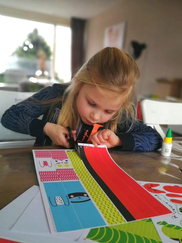 diy, knutselen met kinderen, knutselset, ses creative, ses papierstroken
