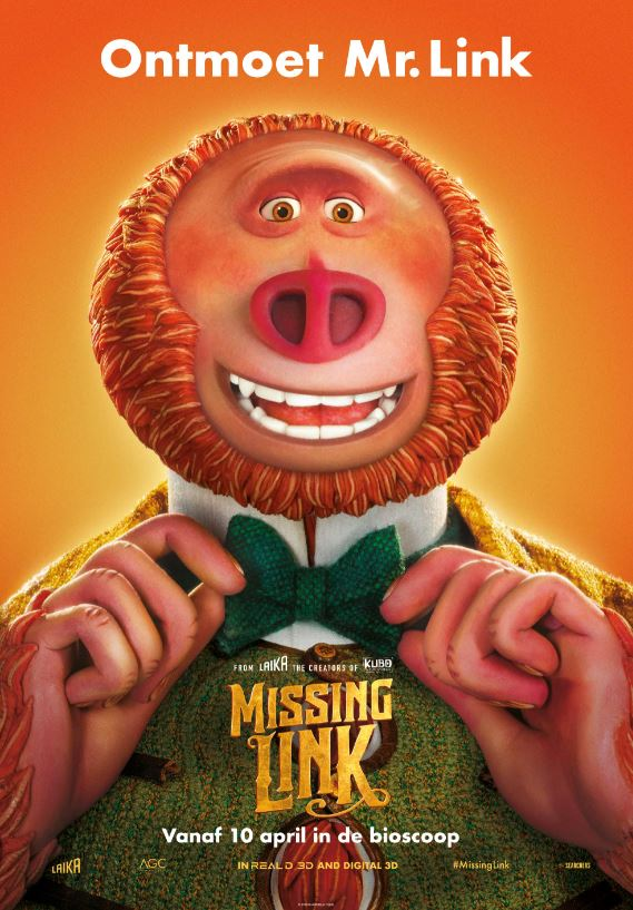 animatiefilm winactie, missing link, bioscoopfilm missing link, animatiefilm
