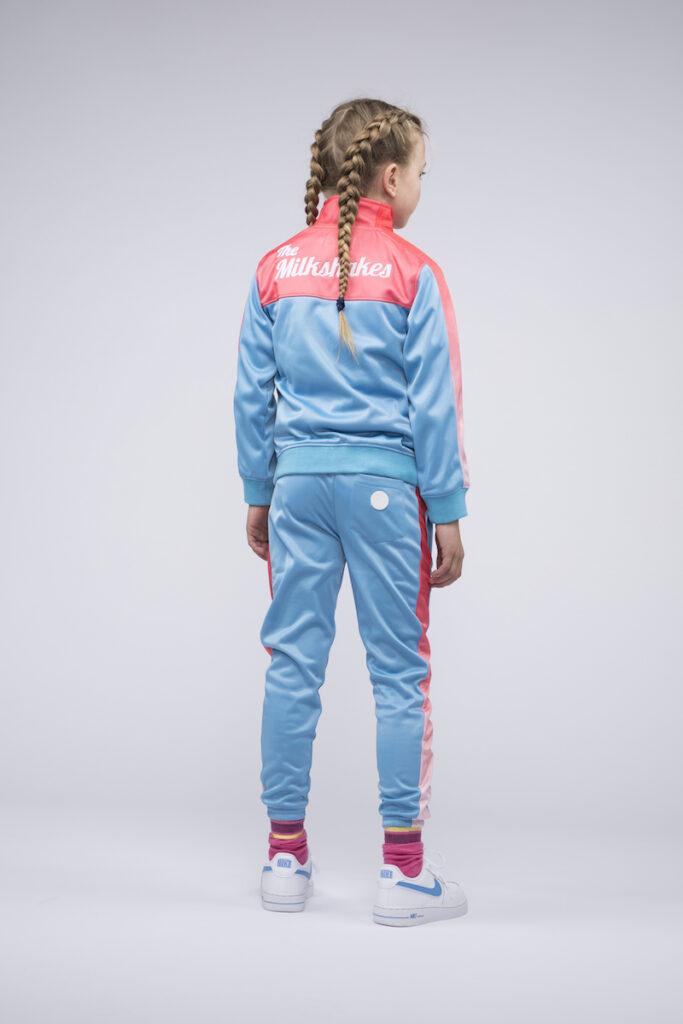 trainingspak meisjes, trainingspak blauw roze