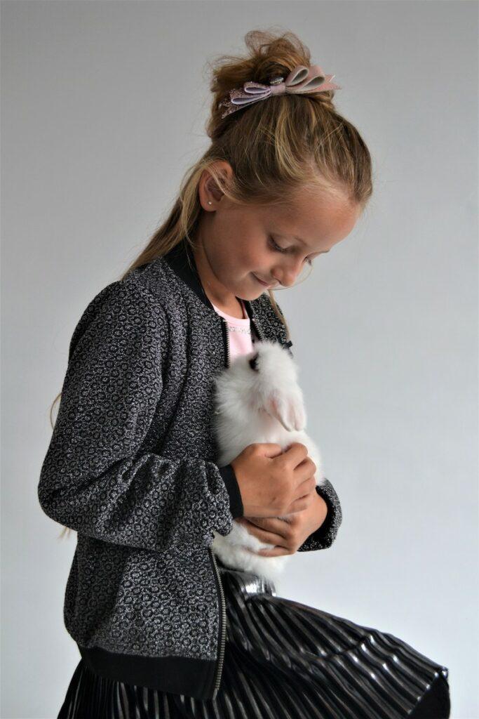 konijn, huisdier, meisje met huisdier