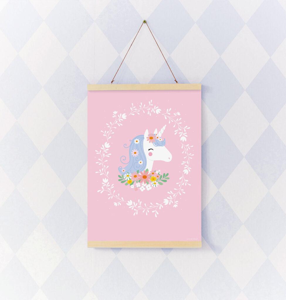 unicorn poster, unicorn meisjeskamer, unicorn kinderkamer