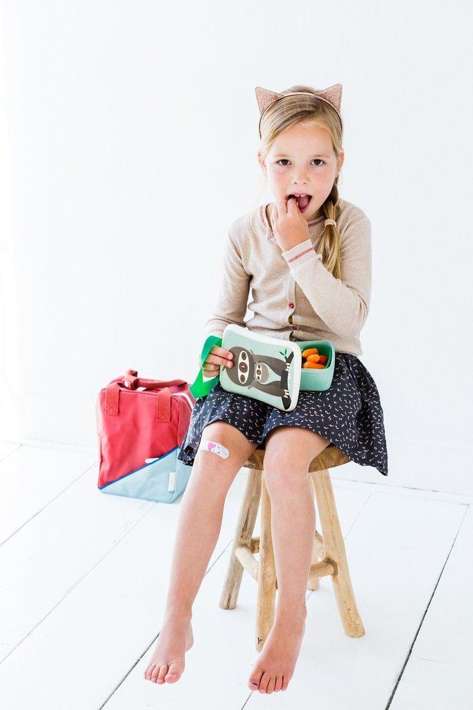 lunchbox luiaard, lunchbox meisje, hippe lunchbox, trendy lunchbox