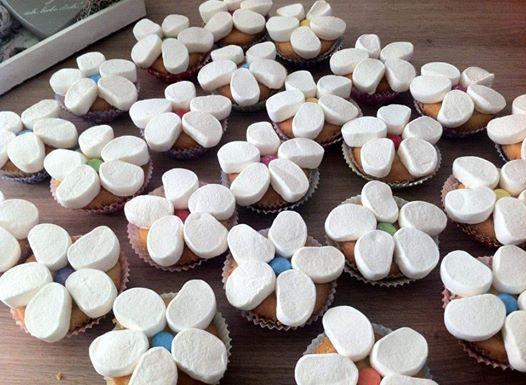 traktatie cupcake, simpele trakties voor op school