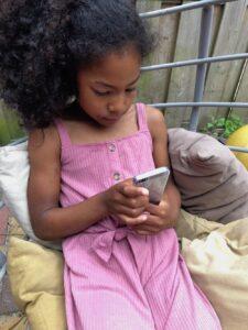 meisje iphone