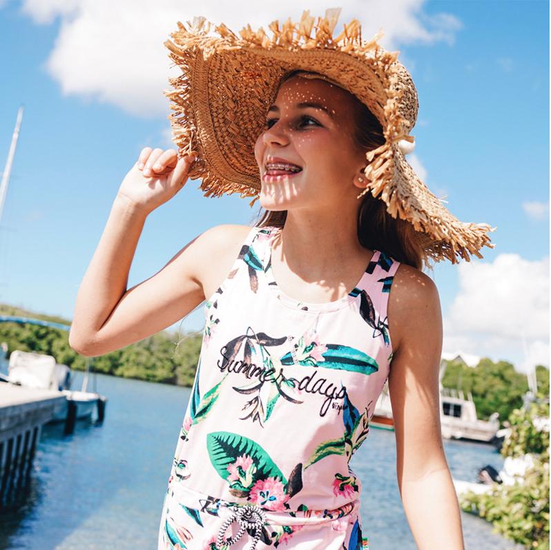 strand jurk voor meisjes, zomerjurk, strandjurk, meisjeskleding, zomercollectie meisjes, kleertjes.com