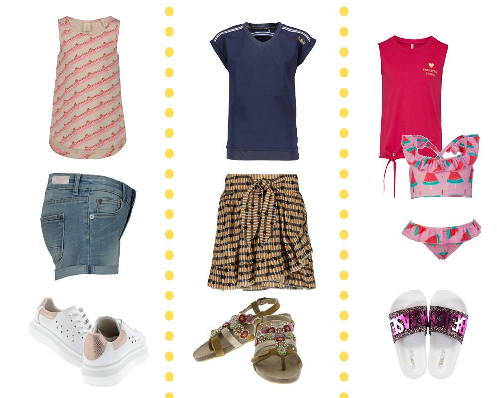 Zomerlook kleertjes, outfit inspiratie, zomeroutfit meisjes, strand jurk voor meisjes, girlslabel