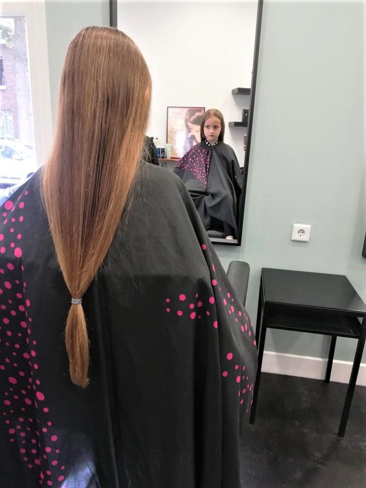 haren doneren, haren knippen, haarwensen. haren knippen voor zieke kinderen