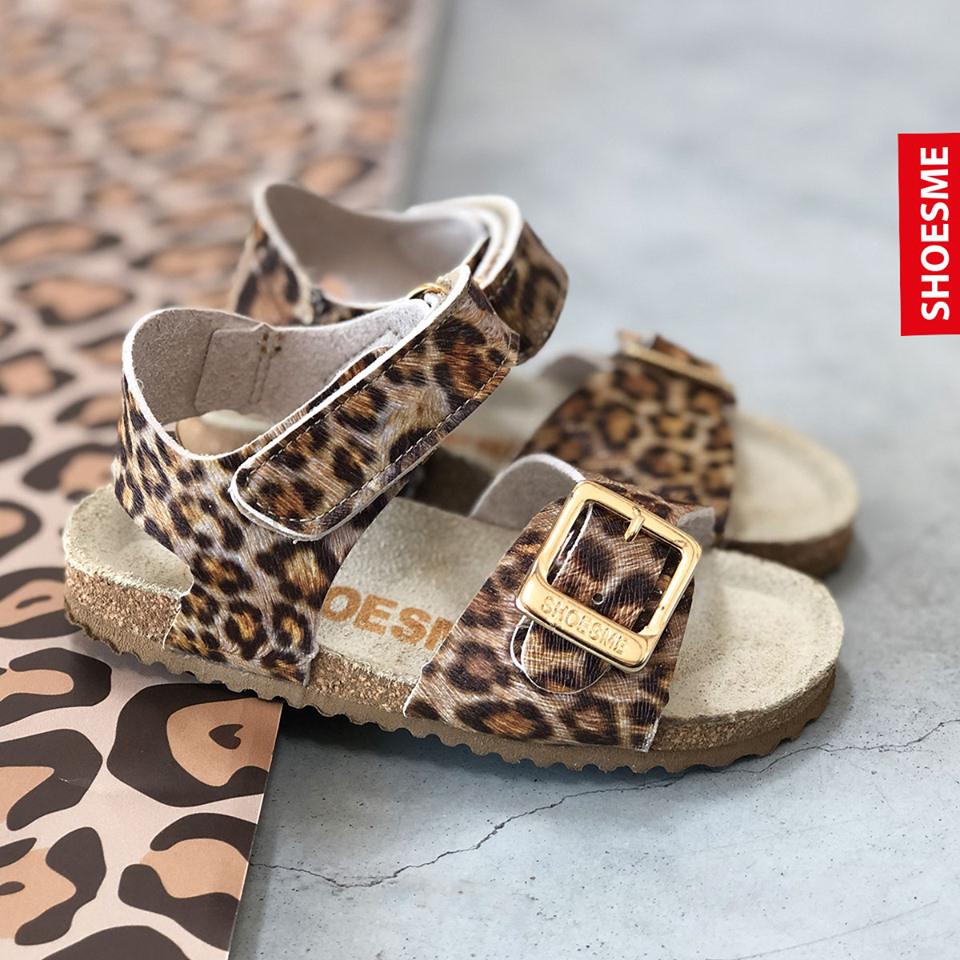 panter sandalen, sandalen met panterprint, sandalen voor meisje, kindersandaal