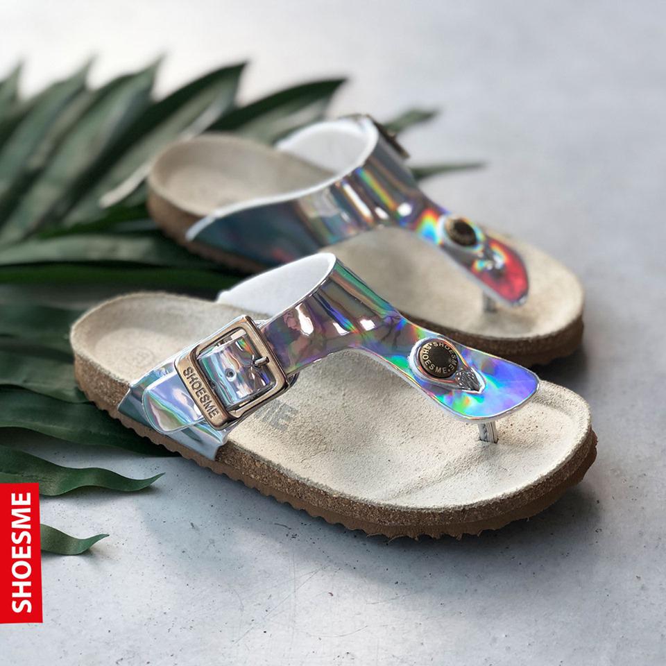 zilverkleurige sandalen, metallic sandaal, kindersandalen