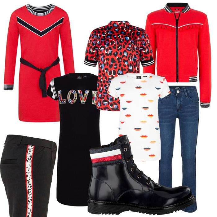 Get the Look Meisjes kleding, rode meisjeskleding, indian blue jeans 2020, herfst winter kindermode