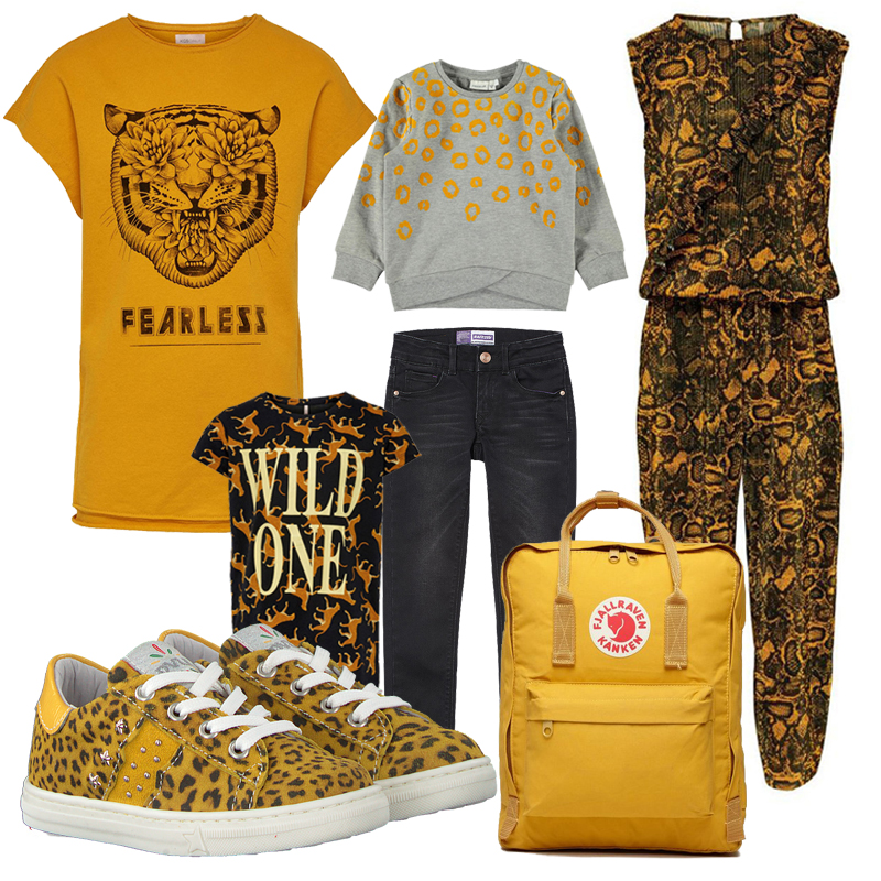gele meisjeskleding, animal print meisjeskleding, kids only, hippe meisjeskleding, shop the look