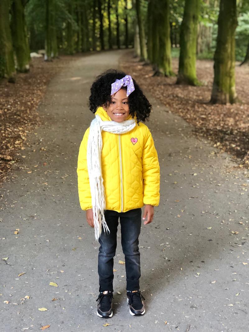 gele winterjas voor meisjes
