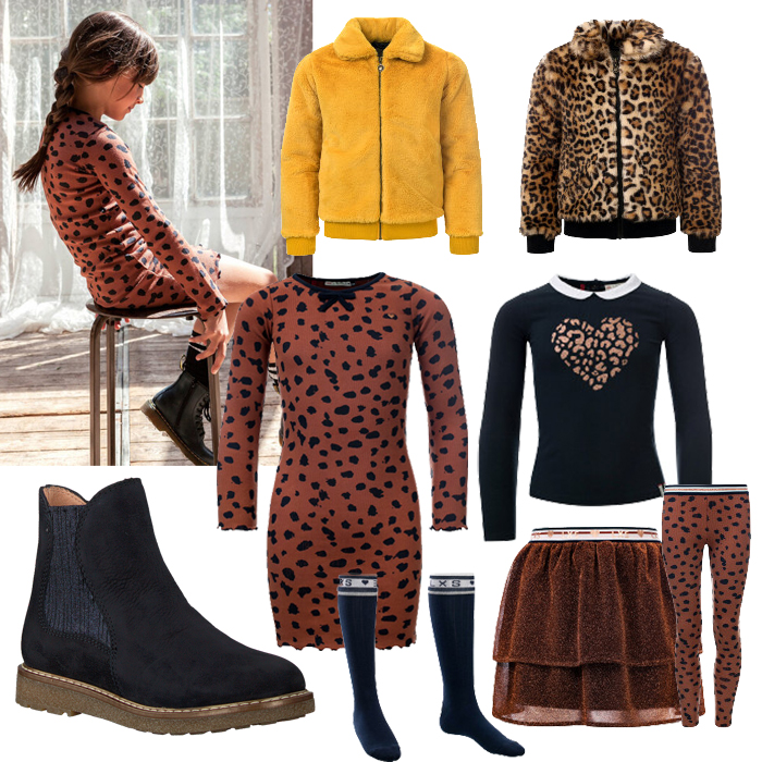 looxs nieuwe collectie, looxs winter 2019-2020, hippe meisjeskleding, panterprint, jurkje panterprint, bontjas meisjes, get the look meisjeskleding, girlslabel, meisjeskleding collage, shopping collage