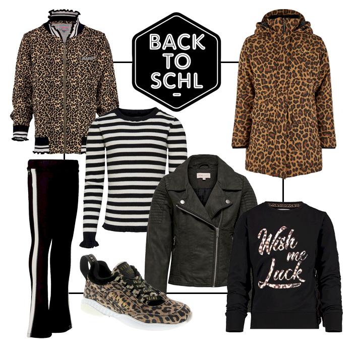 luipaardprint kleding meisje, hippe meisjeskleding, backtoschool kleding, back2school, girlslabel, shop the look, shoppingcollage meisjes kleding