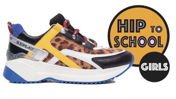 meisjes winterschoenen, stoere meisjes sneakers, replay kindersneakers, kleurrijke kindersneakers, meisjes sneakers