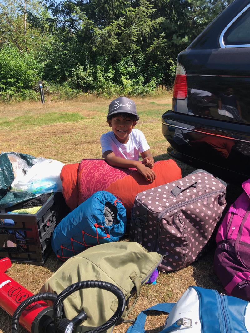 eerste keer kamperen met tent, tent vakantie met kinderen