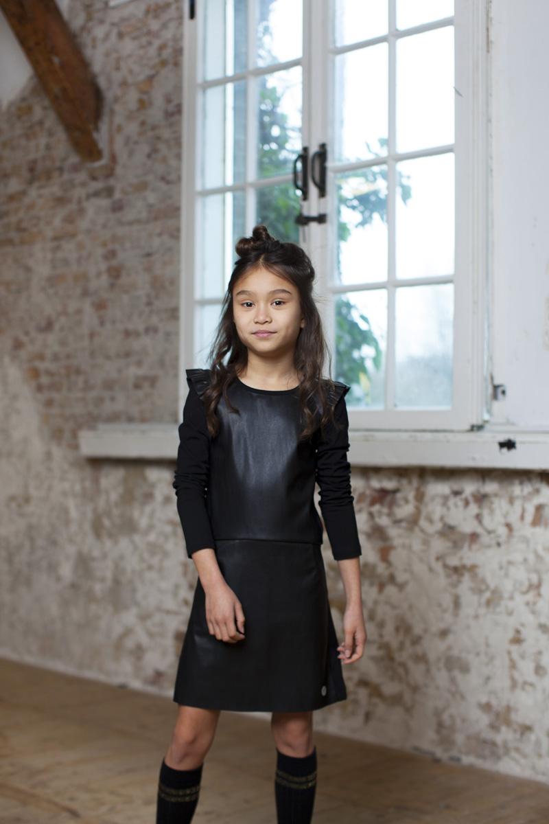 zwart jurkje meisje, moodstreet, hippe meidenkleding