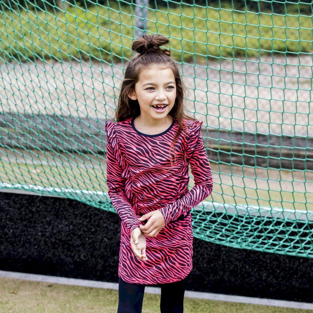 outfit of the day meisjes, meisjesjurk, bnosy jurk, zebra print jurkje
