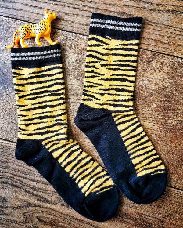 tijgerprint sokken