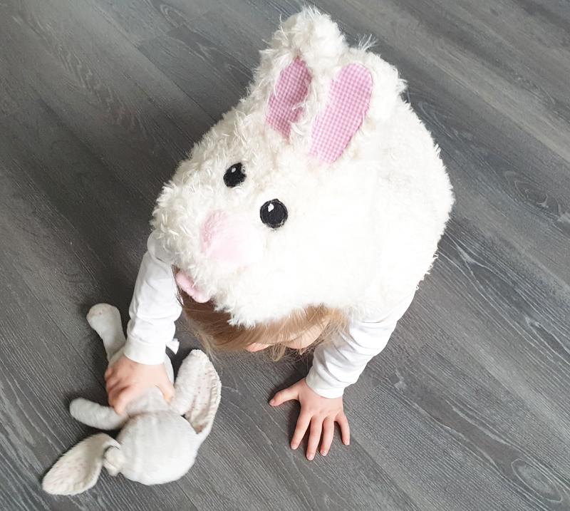 konijnenpakje, verkleed als konijn, souza verkleedpakje
