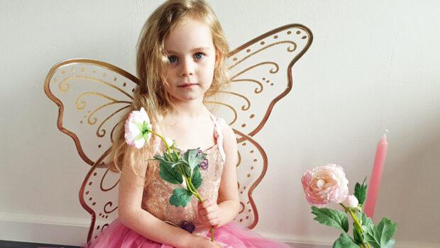 prinsessenjurk met vleugels, vlinderprinses, souza verkleedkleding