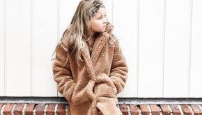 teddy jas meisje, camel kleur teddy jas, teddy jas, girlslabel, winterjas meisjes