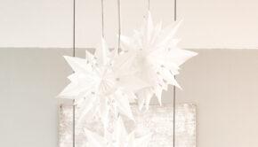 kerstster maken van papier, papieren kerstster maken, DIY kerstster