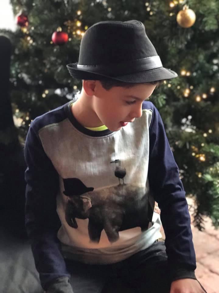 kerst kinderkleding, legends22, shirt met olifantenprint, grappig kerstshirt