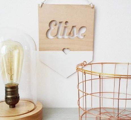 houten naambordjes, naambordjes, de kleine generatie, kinderkamer accessoires