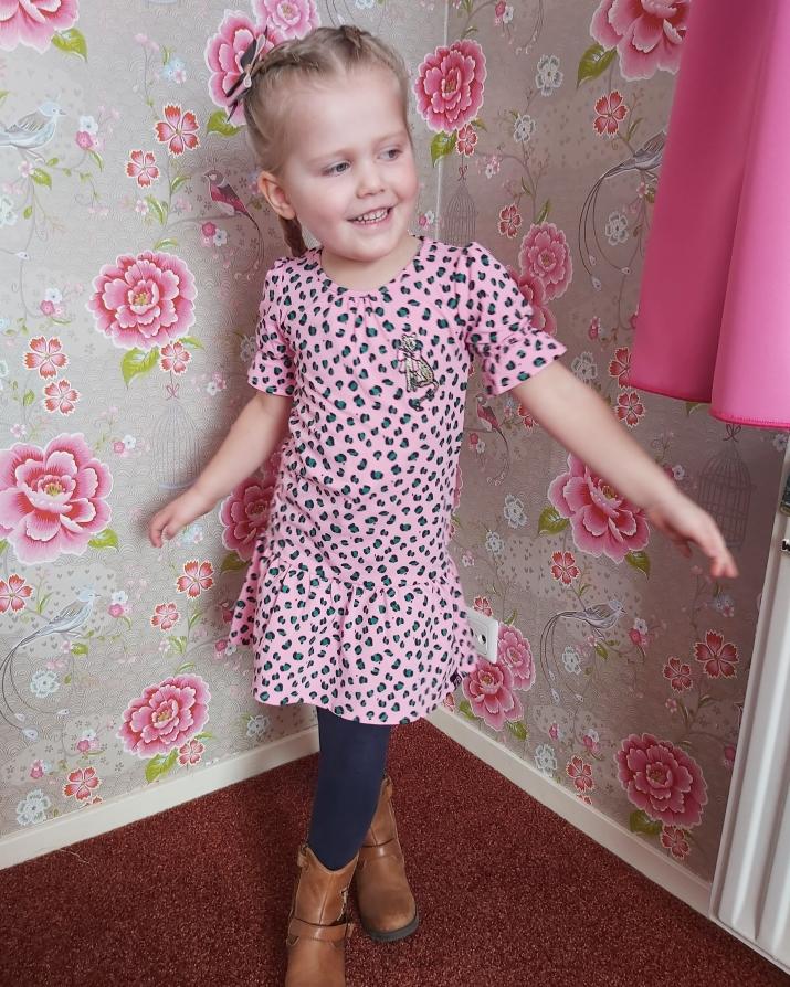 meisjesjurkje, z8 jurkje, roze jurkje meisje maat 110, z8 kleding, outfit of the day meisjes kleding