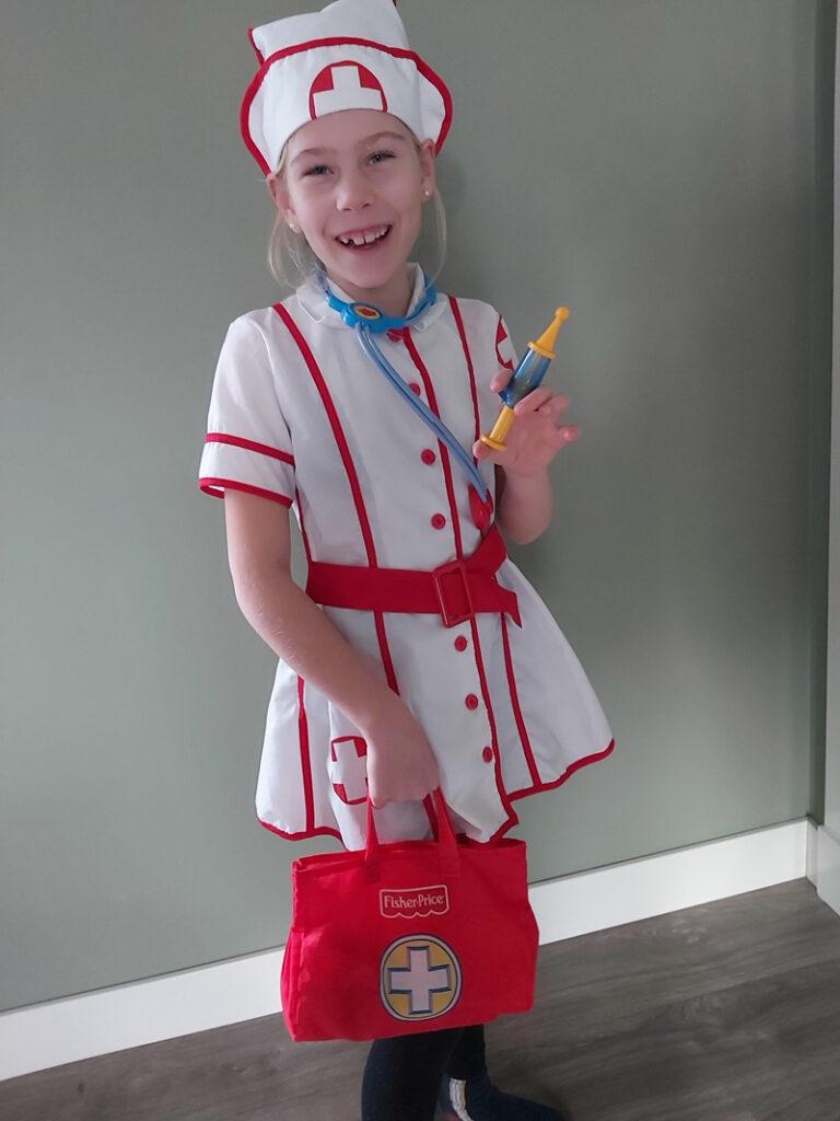 zuster carnaval, verkleedpak zuster