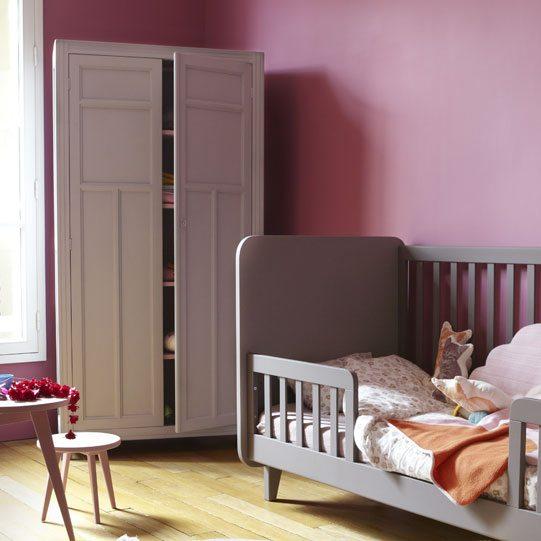 Laurette-Kinderkledingkast, roze kledingkast, meisjeskamer kast