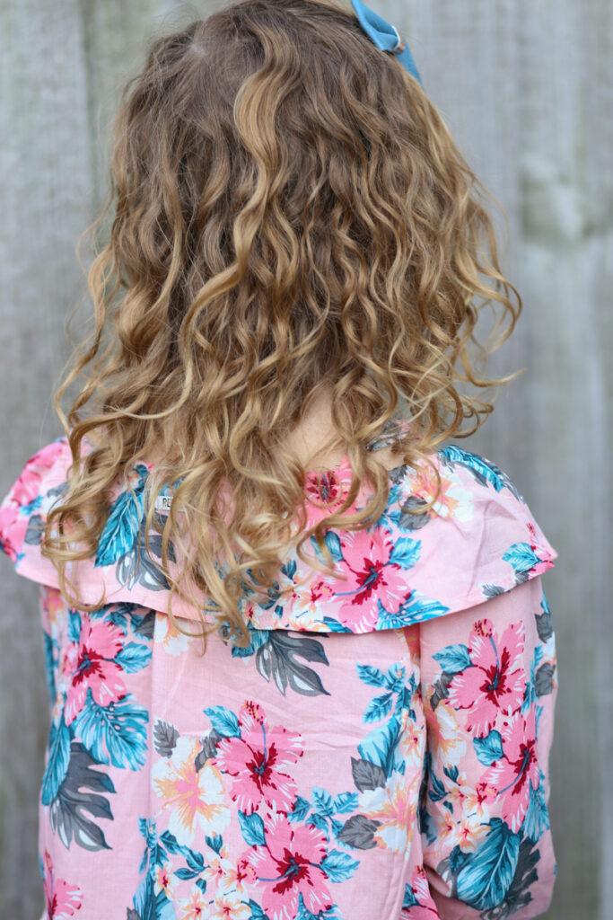 Off shoulder top met bloemenprint, bloemen blouse meisje, blouse meisje