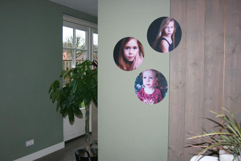 fotocadeau, foto's op de muur