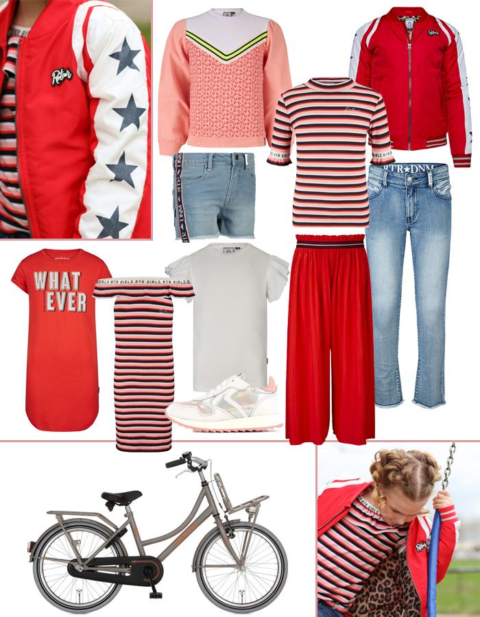 voorjaars look voor meisjes, voorjaarskleding meisje, lentekleding meisje, alpina cargo fiets