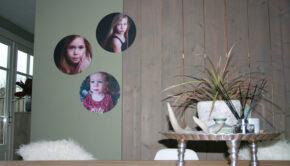 wandcirkels met foto, wandcirkel voor aan de muur, fotocadeau, fotocirkel